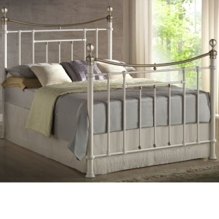 Bronte Cream Metal Bed