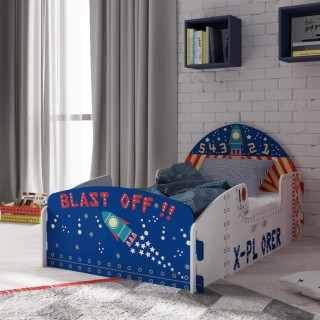 Space Explorer Children's Rocket Ship Toddler Bed