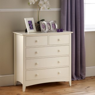 Cameo Stone White 3 + 2 Drawer Chest