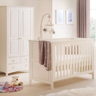 Cameo Stone White Wooden Nursery Bedroom Furniture Collection