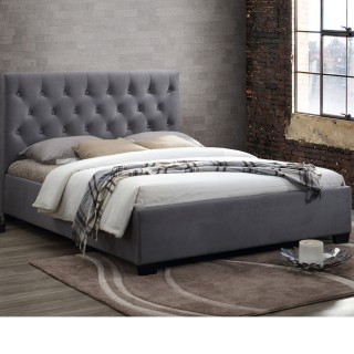 Cologne Grey Fabric Bed