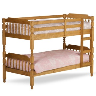 Colonial Waxed Pine Wooden Bunk Bed