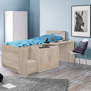 Cookie Oak Wooden Cabin Bed