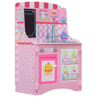 Patisserie Pink Wooden Children's Kitchen Unit