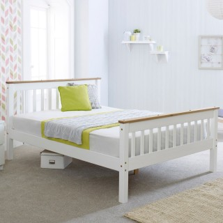 Devon White Wooden Bed