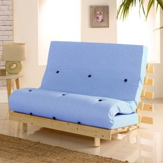 Metro Wooden Folding Guest Futon Lilac Mattress