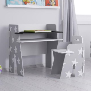 Star Grey and White Desk and Chair