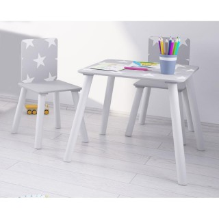 Star Grey and White Table and Chairs