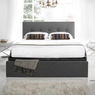 Hexham Smoke Fabric End Drawer Storage Bed