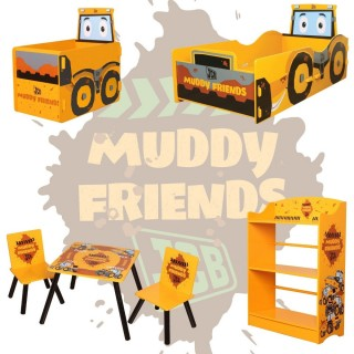 JCB Muddy Friends Wooden Children's Bedroom Furniture Collection