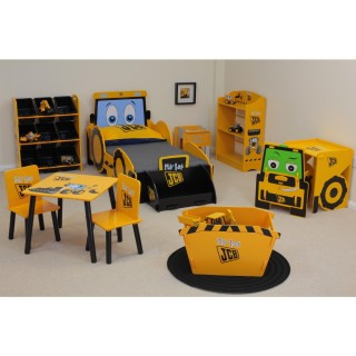 JCB Yellow Wooden Children's Bedroom Furniture Collection