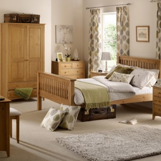 Kendal Pine Wooden Bedroom Furniture Collection
