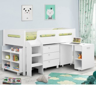 Kimbo White Mid Sleeper Cabin Bed