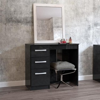 Lynx 3 Drawer Dressing Table Black