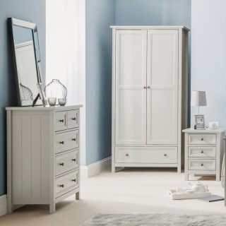 Maine Dove Grey Wooden Bedroom Furniture Collection