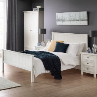 Maine White Wooden Bedroom Furniture Collection