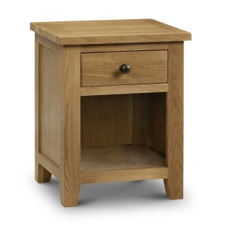 Marlborough Oak 1 Drawer Bedside Table