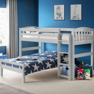Max Grey Wooden Combination Bed