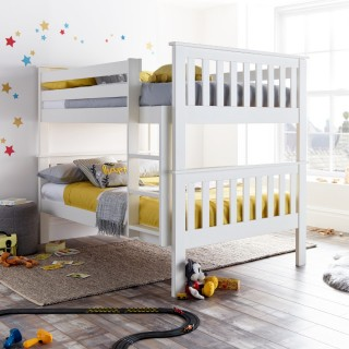 Oslo White Wooden Quadruple Sleeper