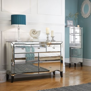 Palermo Mirrored Bedroom Furniture Collection