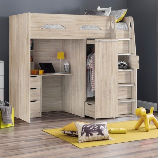 Pegasus Oak Wooden High Sleeper