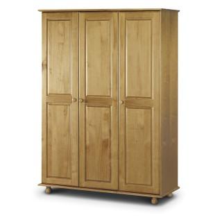 Pickwick Antique Pine 3 Door Wardrobe