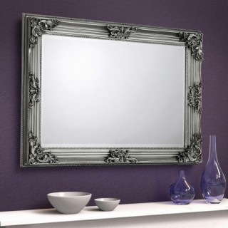Rococo Pewter Wall Mirror - 110 x 80 cm