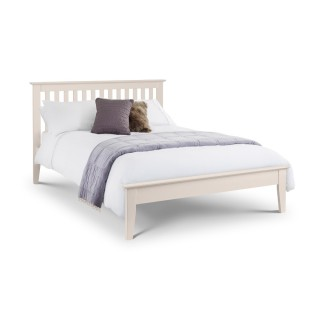 Salerno Ivory Wooden Bed