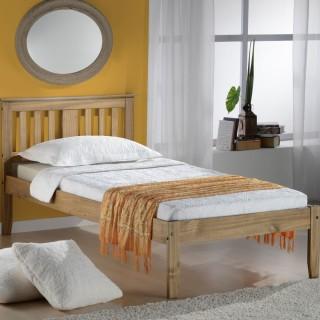 Salvador Antique Solid Pine Wooden Bed