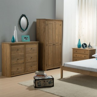Santiago Pine Wooden Bedroom Furniture Collection