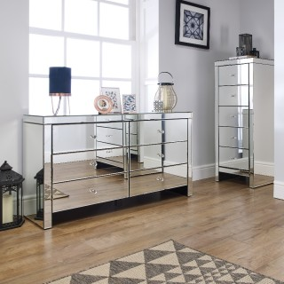 Seville Mirrored Bedroom Furniture Collection