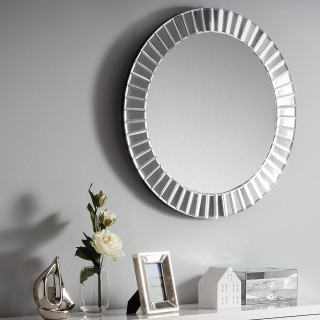Sonata Round Glass Wall Mirror - 60 cm