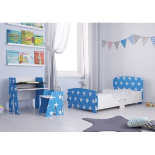 Star Blue and White Wooden Children's Bedroom Furniture Collection