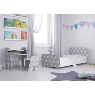 Star Grey and White Wooden Children's Bedroom Furniture Collection