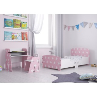 Star Pink and White Wooden Children's Bedroom Furniture Collection