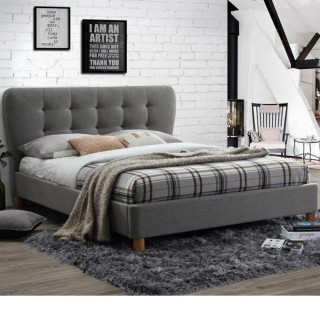 Stockholm Grey Fabric Bed