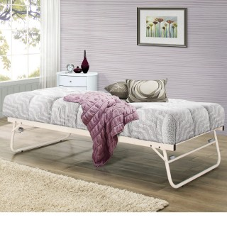 Trundle Cream Guest Bed