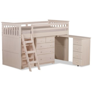 Ultimate Mid-Sleeper White Wooden Storage Bed