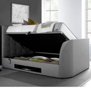 Barnard Grey Fabric Ottoman TV Bed