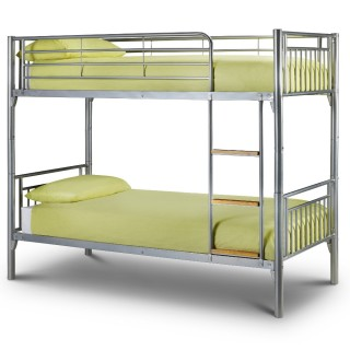 Atlas Silver Finish Metal Bunk Bed