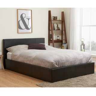 Berlin Brown Leather Bed