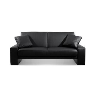 Supra Black Faux Leather Sofa Bed