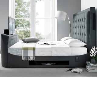 Titan Berwick Grey Fabric TV Bed
