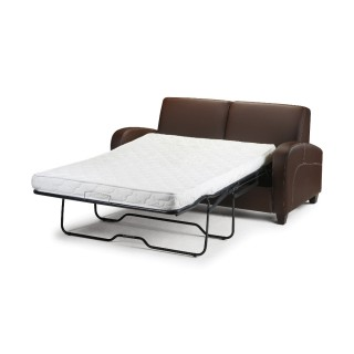 Vivo Brown Faux Leather Sofa Bed